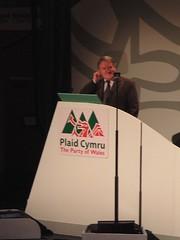 Dafydd Iwan yn annerch cynhadledd Plaid Cymru 2005-09-17