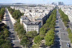 From the top of Arc de Triomphe, Paris photo by Julie70