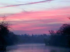 Oxford Dawn From Folly Bridge
