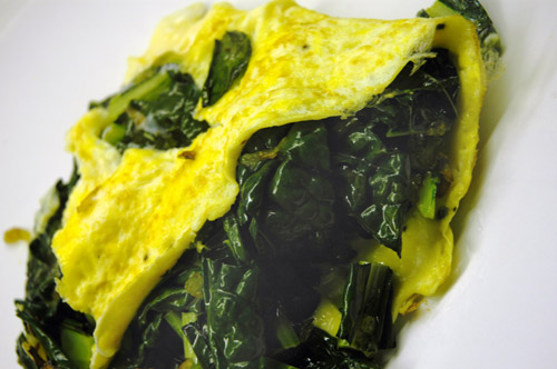 Omelette with Cavolo Nero