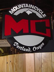 Mountain Cycle booth sign