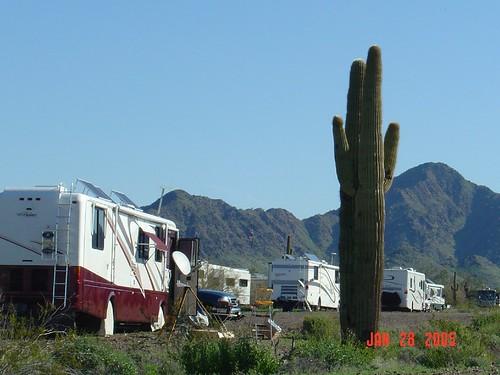 Roughing it at Quartzsite, AZ