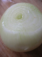 onion on cutting board