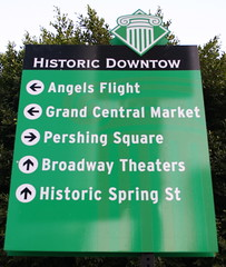 historic downtow sign
