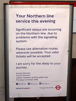 Northern Line Disruptions 7th October