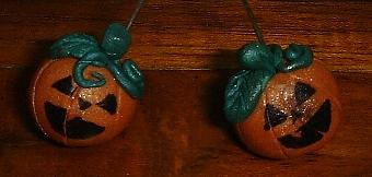 pumpkin sculpey earrings