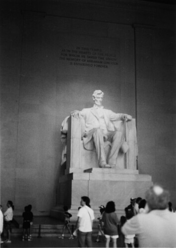 Lincoln Memorial, 1990 or so.
