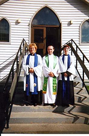 in my Anglican layminister's robes