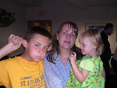 Me and my crazy nephew and neice