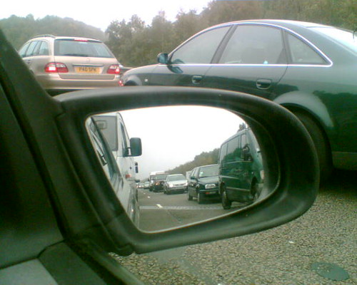 Stuck on the M3 for nearly an hour.