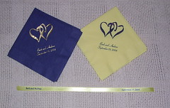 Our Wedding Napkins & ribbon for the favors