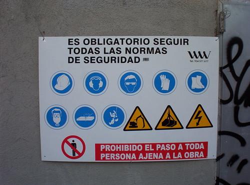 Obra: normes de seguretat