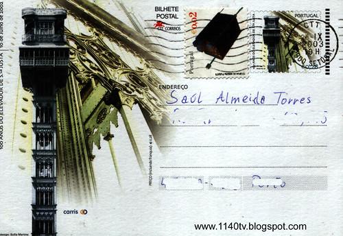 Postal comemorativo - dez anos