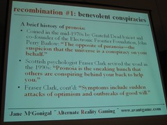 PRONOIA Slide from McGonigals session on ARG, ACG 2005