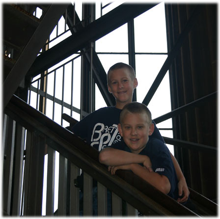 Boys Climbing the Tower