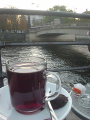 Gluehwein by the river