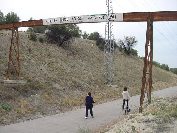 protesta por los accesos a la vía verde