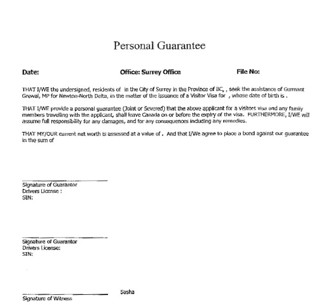Personal Guarantee Form Personal Guarantee Forms Personal