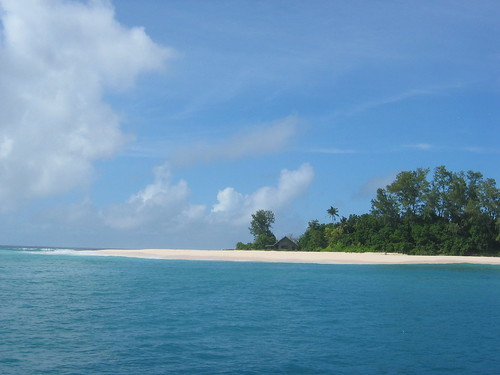 Beautiful shot of Seychelles beach
