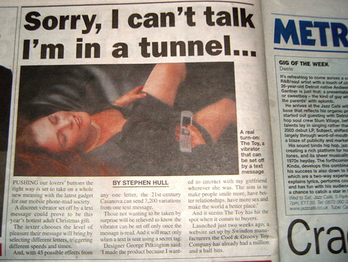 Metro article - Text operated vibrator