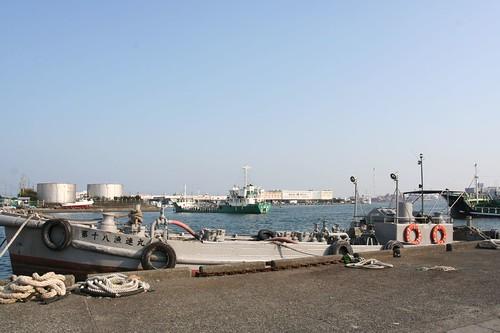 at Shimizu harbour