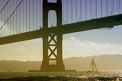 Sailing under Bridge