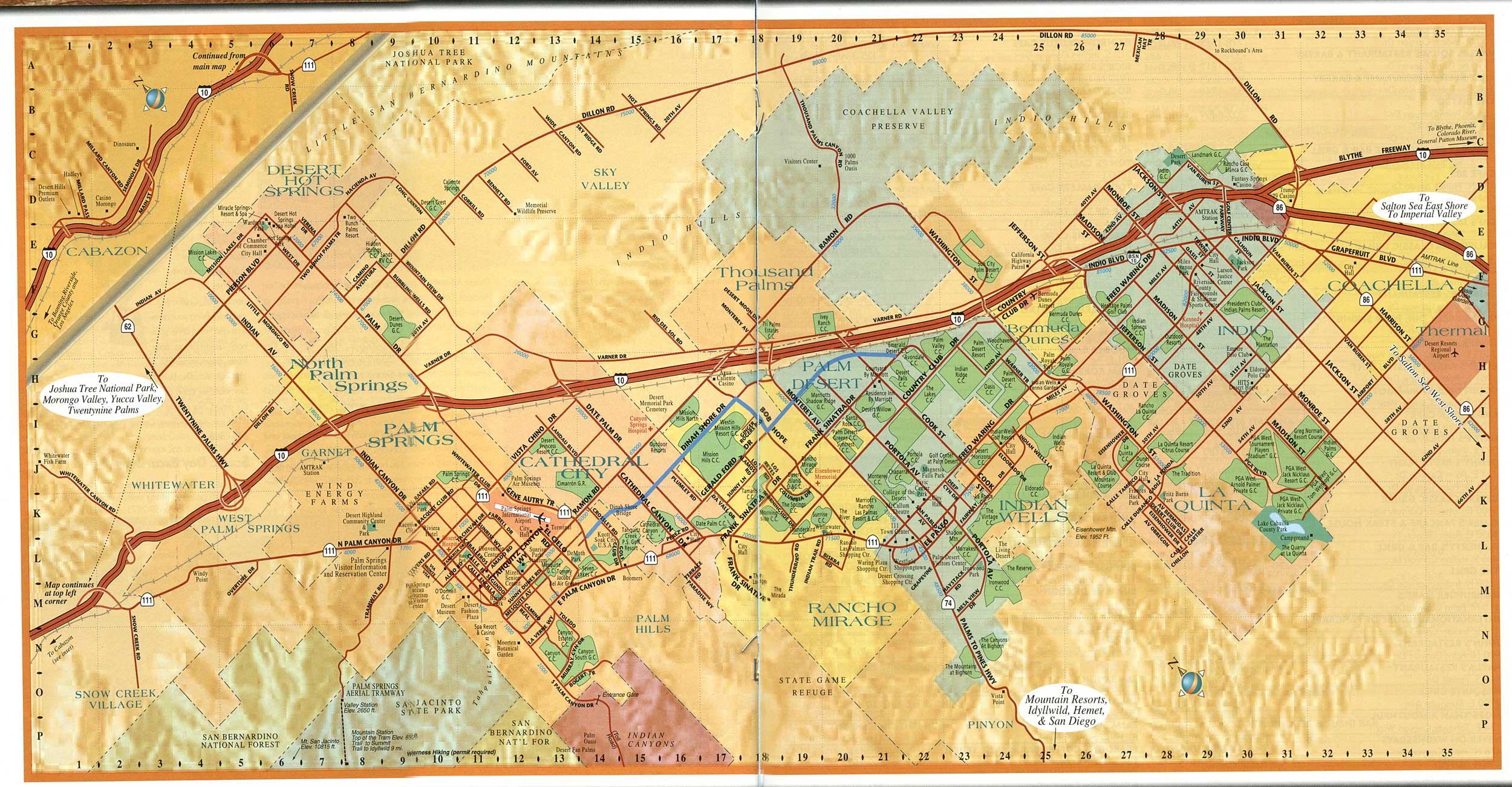 Rons Log Coachella Valley Map