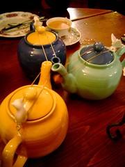 pots of tea