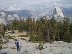 half dome from sentinal dome