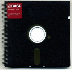 notebook floppy disc