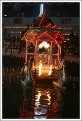 Karkala Sri Venkataramana on the Boat during Lakshadeepostsava
