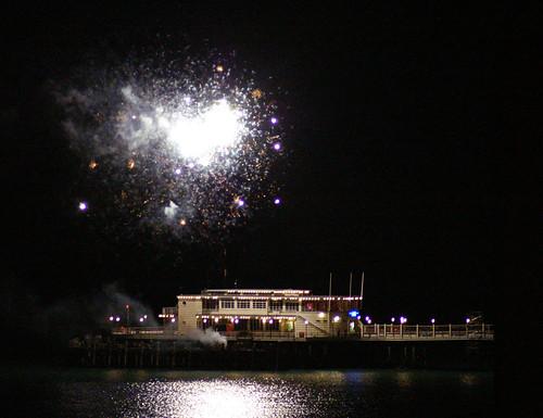 fireworks? pour quoi? it's  not bonfire night..