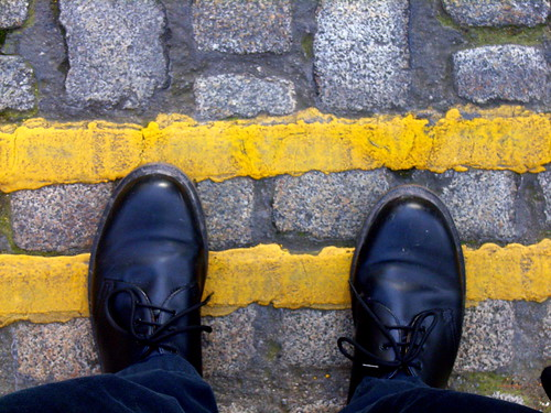Boots and Yellow Lines