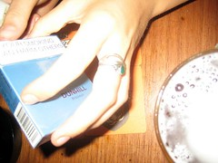 Beer & cigs (flash)