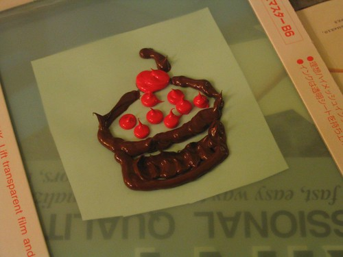 inky cupcake