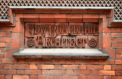 Old Bank Of England Court, Norwich: Arts And Craft Brick Lettering