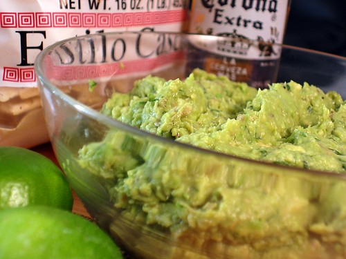 Superbowl Guacamole - Grilled Avocado and Lime