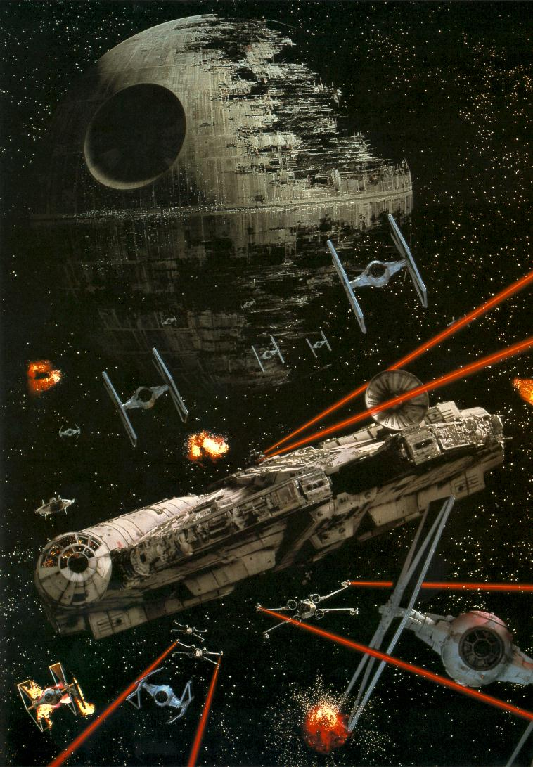 Millenium Falcon in the battlefield
