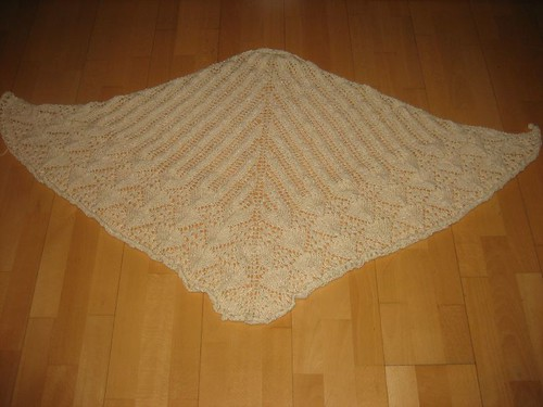 Lotus Blossom Shawl, finished!