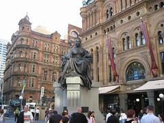 Queen Victoria Statue Kat Luar Queen Victoria Building, Sydney, Australia