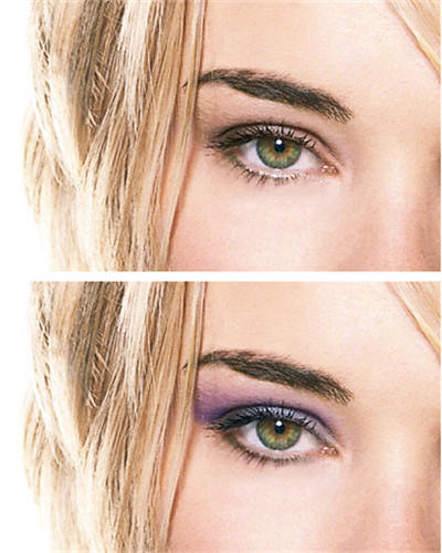 Apply Eye Makeup – an easy tutorial shows how to add eyeliner, eye shadow,