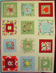 Birds & Blooms baby quilt photo by alissahcarlton
