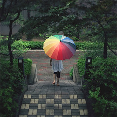rainbow umbrella photo by yein~
