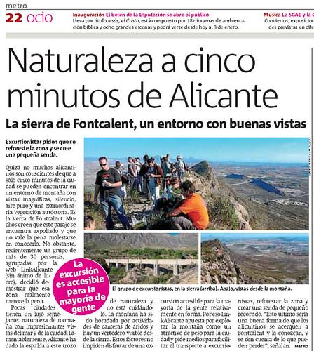 La Subida a Fontcalent, en Metro Alicante