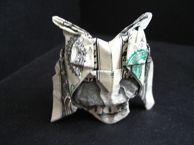 american dollar bill owl. one dollar bill owl or spider.