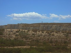 arrays of solar panels in Spain - not sunny enough here