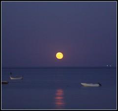 Luna dalla spiaggia...lasciando il mare photo by Luca Querzoli Fotografo alias LQ Photographer