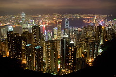 Hong Kong Peak at night photo by tim.mcrae