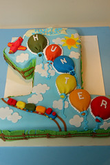 Hunter is One! Birthday Cake photo by Lucky Penny Cakes