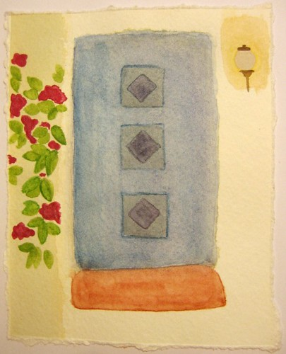 My front door:  Watercolor